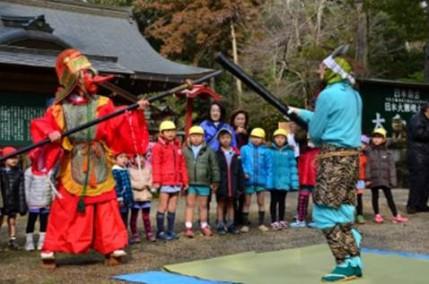 大和神社「子供節分祭」